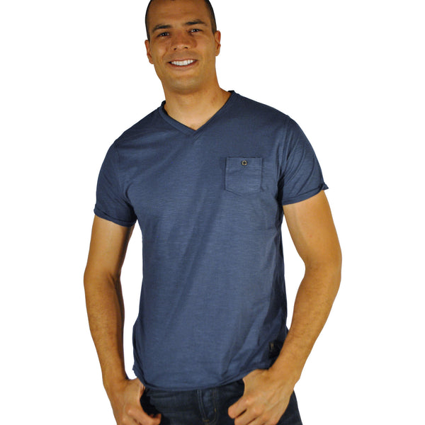 Double Seam V-Neck W/Pocket - Anonymous L.A. - 3