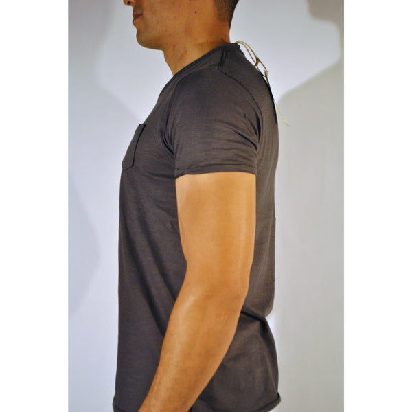 Double Seam V-Neck W/Pocket - Anonymous L.A. - 8