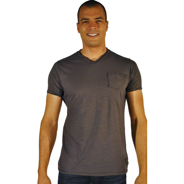 Double Seam V-Neck W/Pocket - Anonymous L.A. - 6