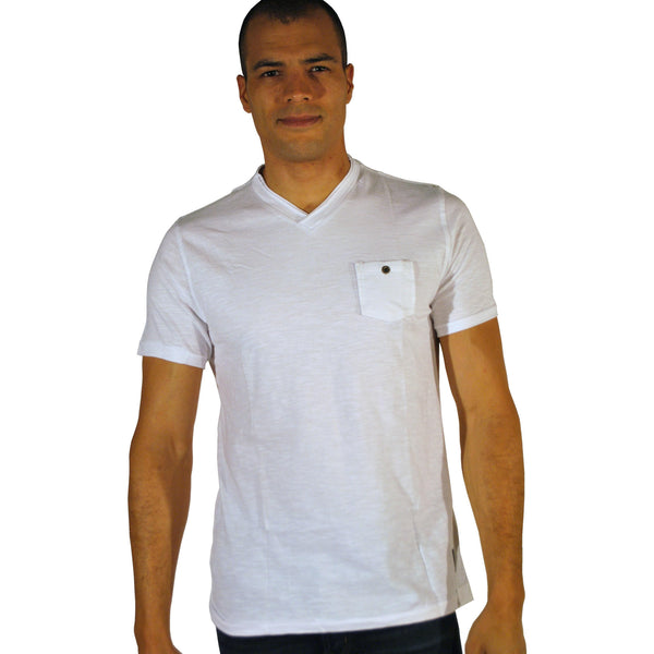 Double Seam V-Neck W/Pocket - Anonymous L.A. - 2