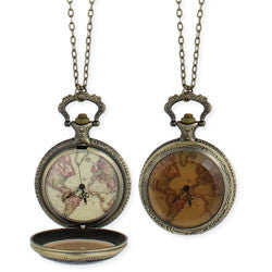 World Map Watch Necklace - Anonymous L.A.