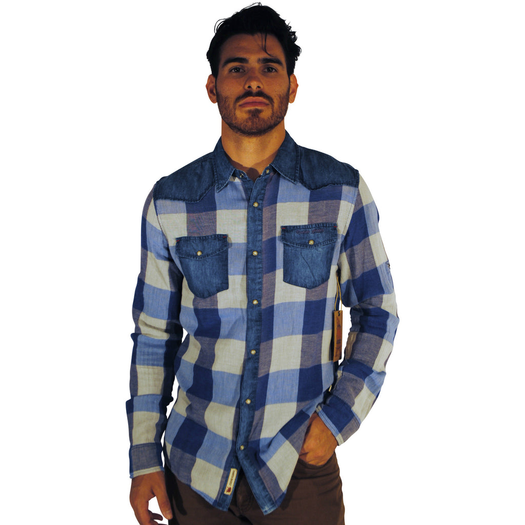 Dakotah Grizzly Blue Plaid Flannel - Anonymous L.A.