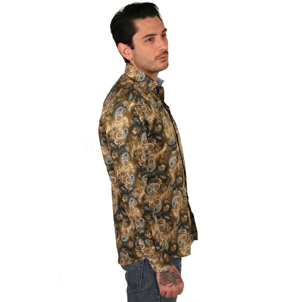 Platini Paisley Dress Shirt - Anonymous L.A. - 4
