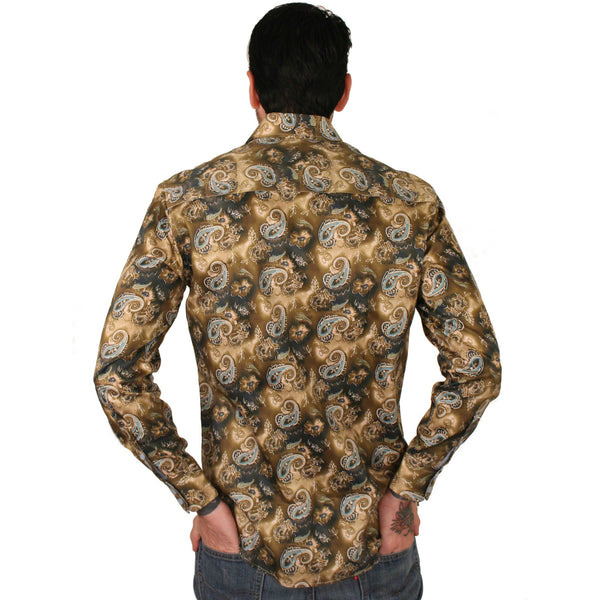 Platini Paisley Dress Shirt - Anonymous L.A. - 5