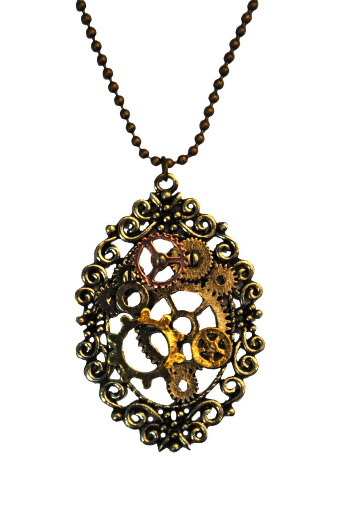 Steampunk Necklace w/ Gears