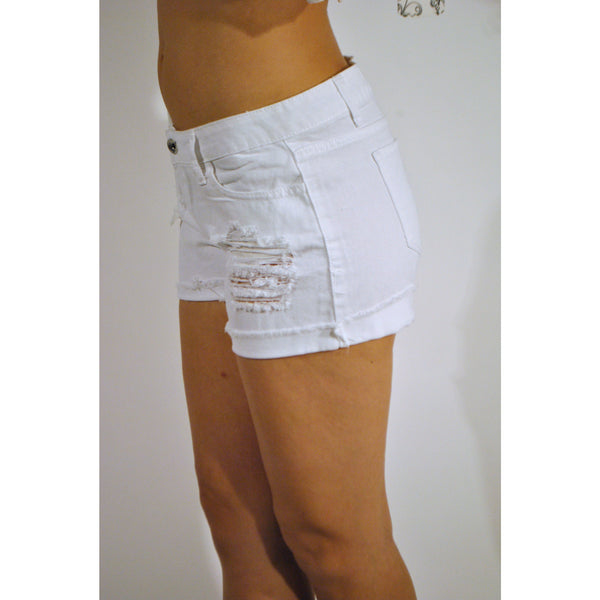 Flying Monkey Cuffed Boyfriend Shorts - Anonymous L.A. - 2