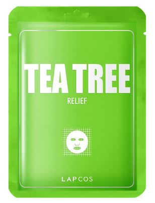 Lapcos Metallic Sheet masks individual - Tea Tree