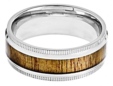 Crucible Stainless Steeel Wood Ring