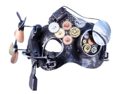 Steampunk Mask w/gears & fan