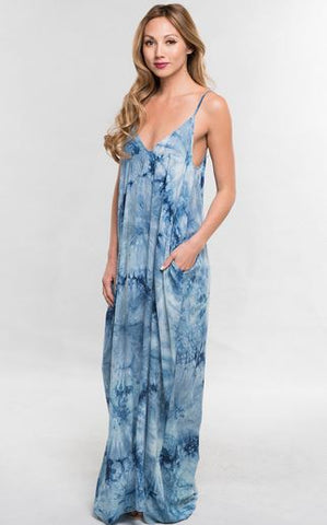 Tie Dye Cocoon Maxi Dress