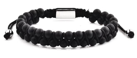 Crucible Men's Stone Beaded Adjustable Bracelet