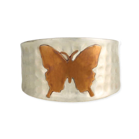 Gilded Butterfly Spirit Animal Cuff Bracelet