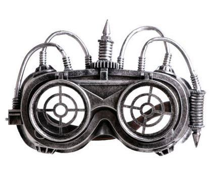 Steampunk Flip Goggles with Wires
