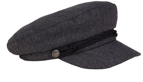 Fisherman Cap - Grey Tweed