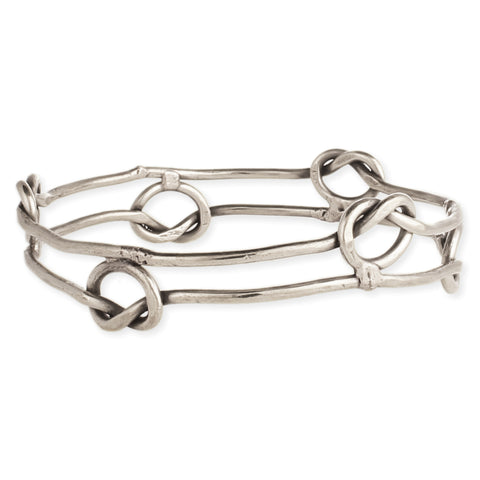All in Knots Silver Wire Bangle