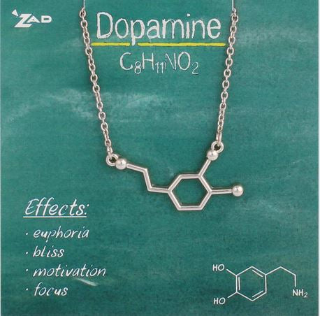 Chemical Reactions Dopamine Molecule Necklace
