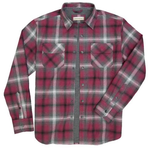 Shayne - Flannel Outer Shirt - Flame
