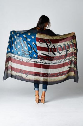 We the People Flag Scarf