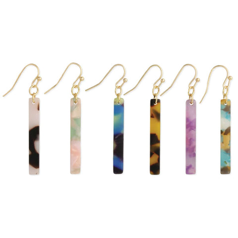 Bottled Bar Marbled Resin Earrings