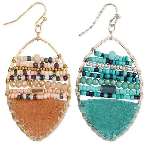 Cowgirl Couture Bead & Suede Earrings