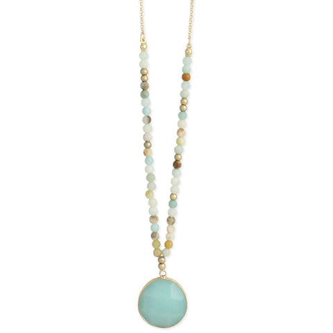 Sweet Tones Gold & Amazonite Necklace