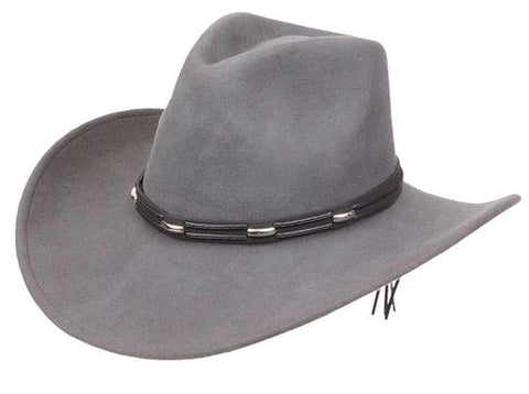 Kenny K - Wide Brim - Light Grey