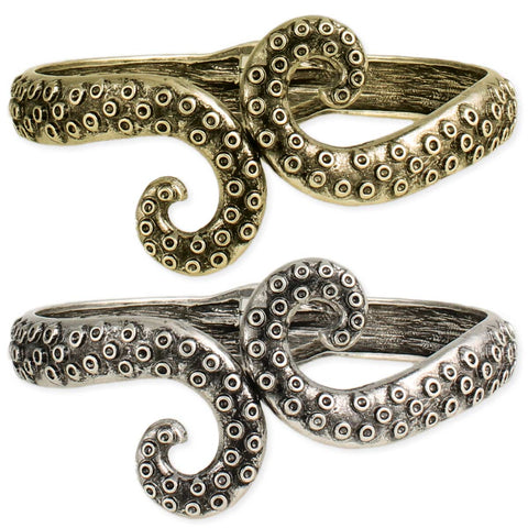 From the Deep Octopus Tentacle Cuff Bracelet