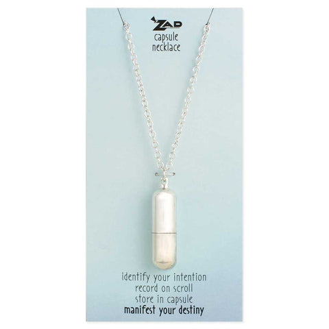 Silver Wish Capsule Necklace
