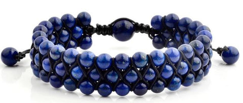 Crucible Men's Beaded Triple Row Bracelet