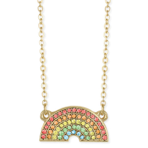 Sparkling Crystal Rainbow Pendant Necklace