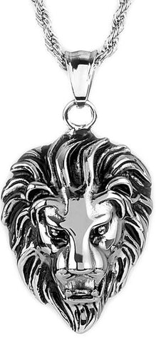 Crucible Men's Lion Head Pendant
