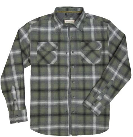 Shayne - Flannel Outer Shirt - Mineral