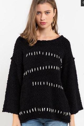 Popcorn Black Sweater