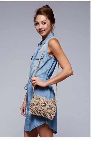 Crossbody Crochet Bag - Sunflower