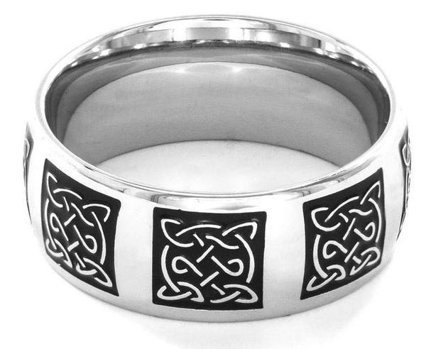 Crucible Men's Traditional Celtic Knot Ring