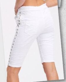 Rhinestone Stud Side Stripe Bermuda Shorts