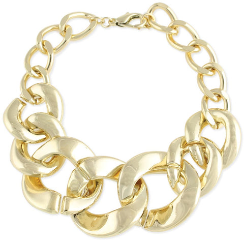 Gold Large Links Bracelet