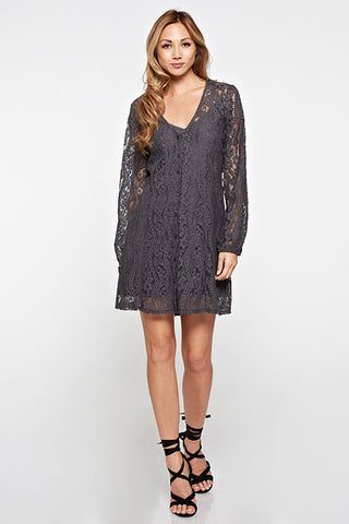 All Over floral lace dress