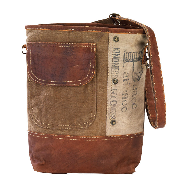 PEACE AND PATIENCE SHOULDER BAG