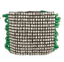 Silver & Beaded Multi Strand Stretch Bracelet