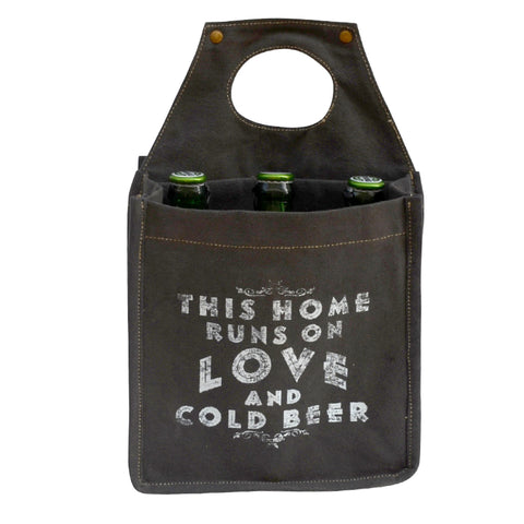 THIS HOME RUNS ON LOVE AND COLD BEER CARRIER