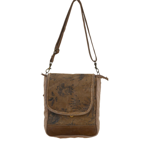 FLORAL STRAP MESSENGER BAG