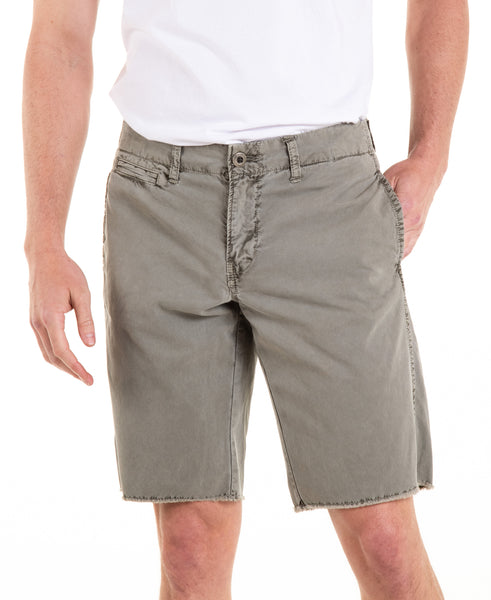 Raw Hem Chino Shorts