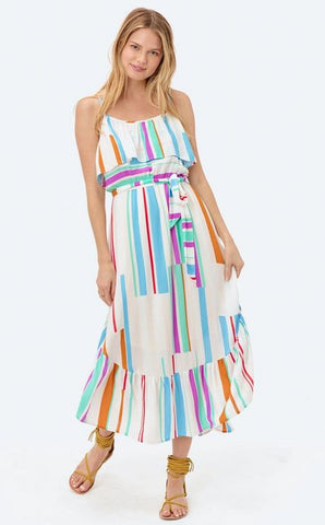 Clara Stripe Ruffled Dress