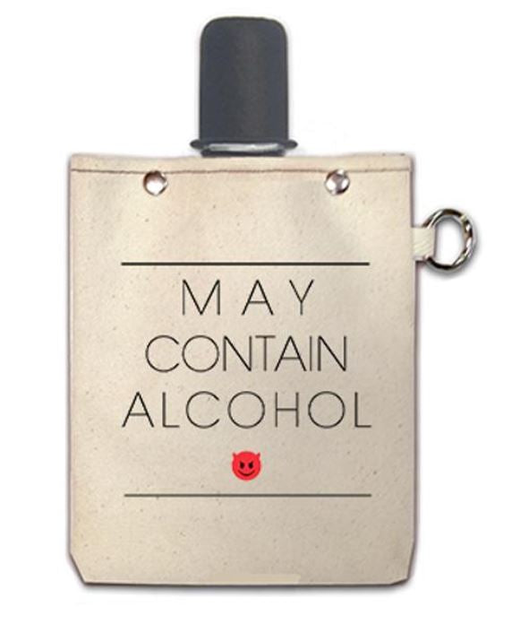 May Contain Alcohol - Canvas Flask 240ml