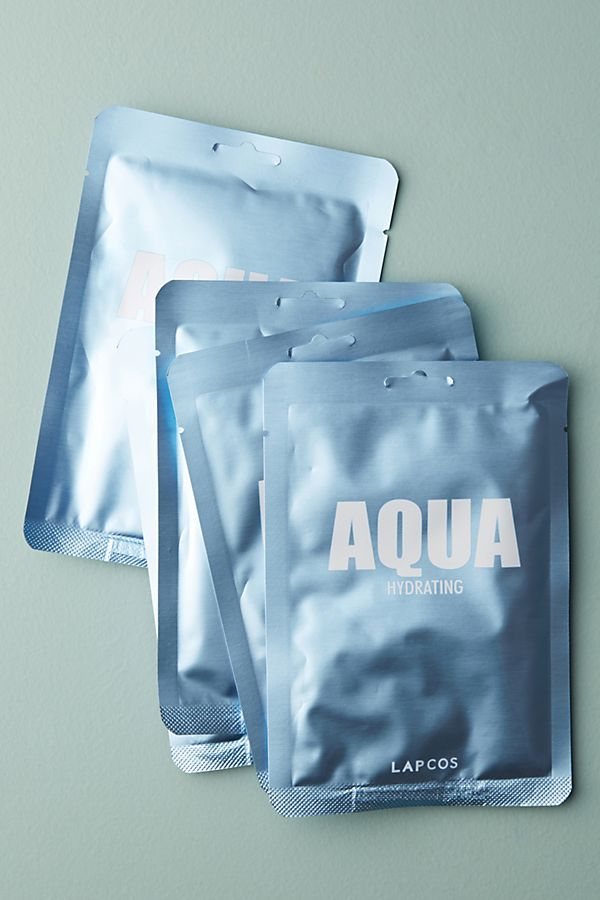 LAPCOS Metallic Sheet Masks Set - Aqua