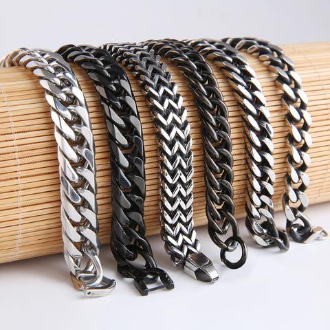 Mad Man Stainless Link Cuff Bracelets - Assorted Styles