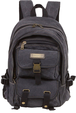 Canvas Backpack 12x17x7 Black