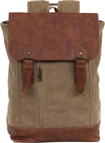 Canvas Backpack/Computer Bag - Khaki