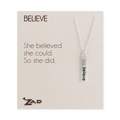 Believe Word Bar Necklace - Anonymous L.A.